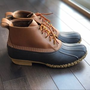 Men's size 11 LL Bean leather Duck Boots 6 inch